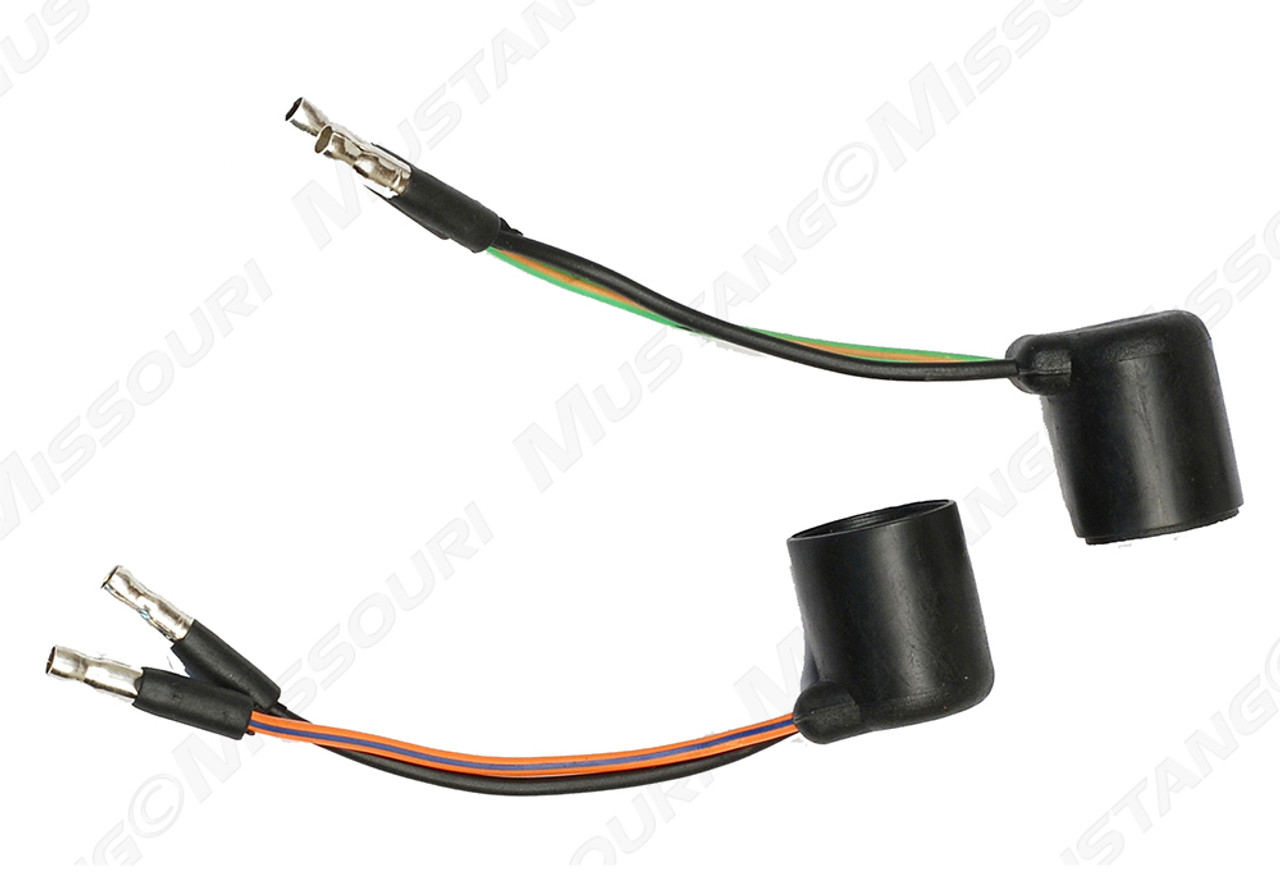 New 1965-1966 Mustang Tail Light Housing Wiring Plug Pig Tails