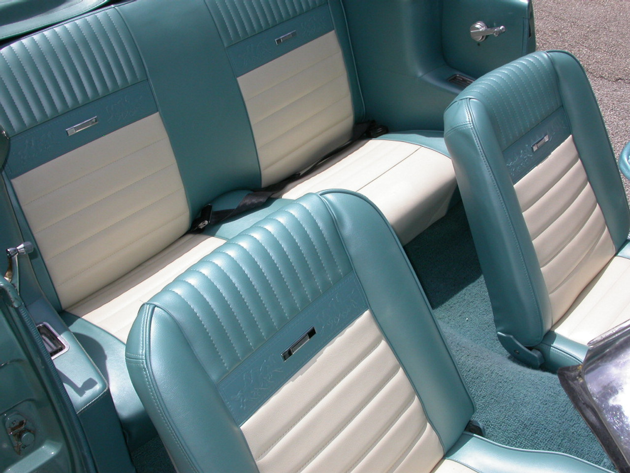 1966 Mustang Convertible Front and Rear Seat Upholstery Blue by TMI-In Stock