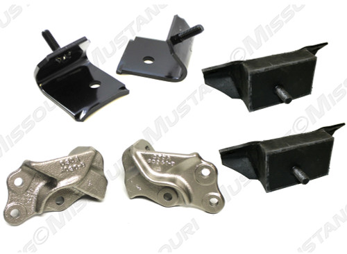 1964-1965 Ford Mustang motor mount kit. Early style V8.