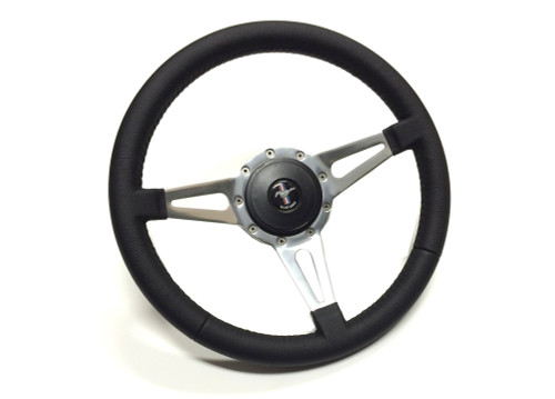 1964-73 Volante Steering Wheel Black Leather