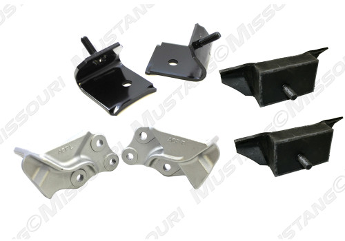 1964-1965 Ford Mustang motor mount kit. Early style V8.  Fits 260 and 289 c.i. engines. (not for HIPO 289)