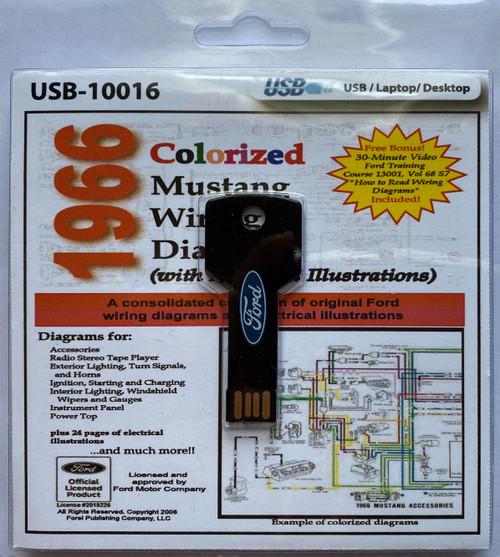 1966 mustang colorized wiring diagram digital