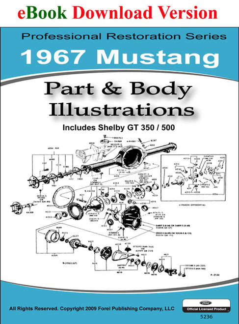 1967 Ford Mustang Colorized Wiring & Vacuum Diagram
