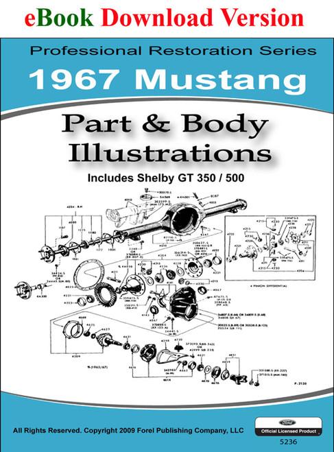 1967 Ford Mustang Part & Illustrations Manual