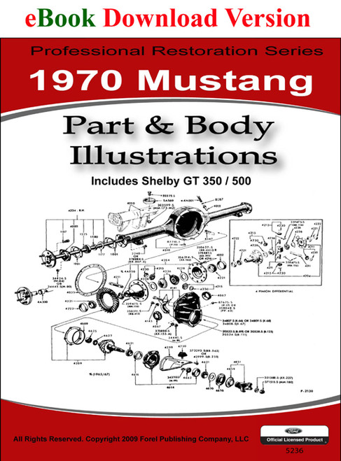 1970 Ford Mustang Part & Body Illustrations Manual