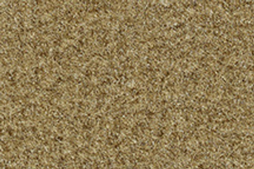 1974-1978 Ford Mustang carpeted floor mat sample, gold.