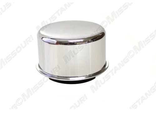 1964-1968 Ford Mustang twist on oil cap, chrome.