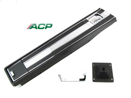 1964-1965 Ford Mustang short floor console assembly for standard transmission with air conditioning.