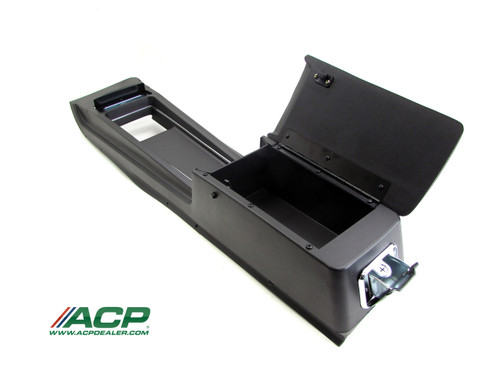 1970 Ford Mustang console assembly for automatic transmission with standard interior.