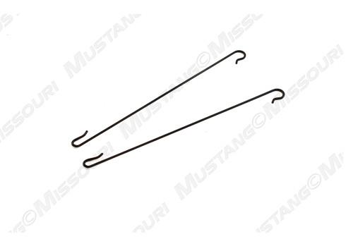 1969-1970 Ford Mustang headliner rod retainer hooks, set of two.