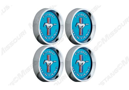 Legendary wheel tri-bar center cap set, blue.