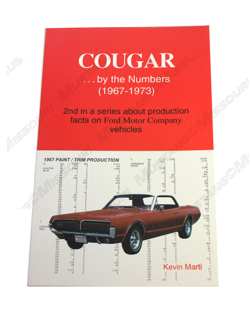 Cougar by the Numbers reference book by Kevin Marti.