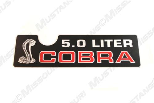 1993 Ford Mustang Cobra 5.0 Liter intake emblem.