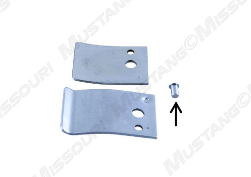 1982-1993 Ford Mustang door check tension arms with pin, pair.