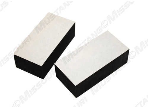 1969-1970 Ford Mustang cowl vent panel support pads, set of two.