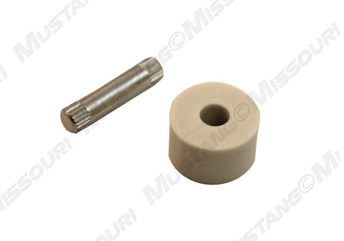 1982-1993 Ford Mustang lower door hinge roller and pin, each.