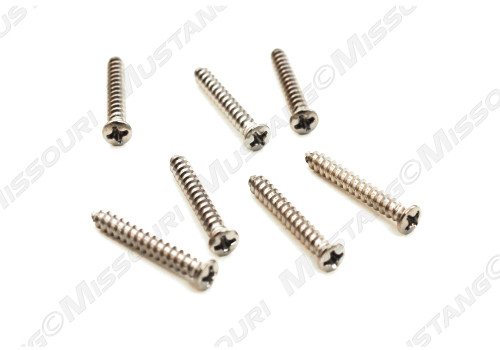 1964-1966 Ford Mustang windshield trim molding screw set.