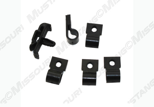 1967-1968 Ford Mustang turn signal hood wiring clip set.