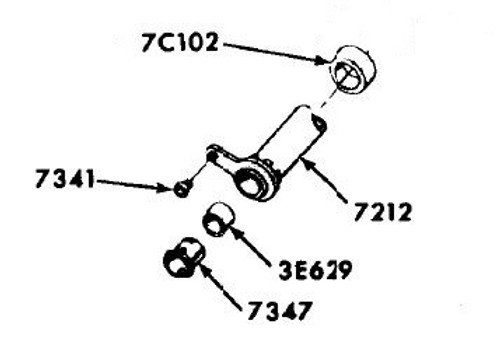 1969-1970 Ford lower steering column tube bearing, #7347.