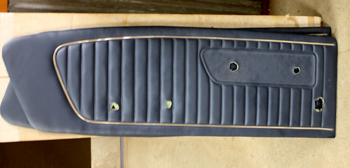 1964-65 Standard Door Panels Blue use with Remote Mirror