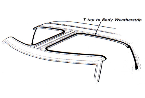 1987-1988 Ford Mustang T-Top to body seal.