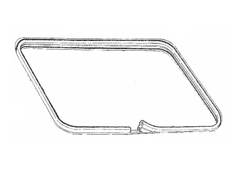 1979-1993 Ford Mustang sunroof weatherstrip on body, economy.
