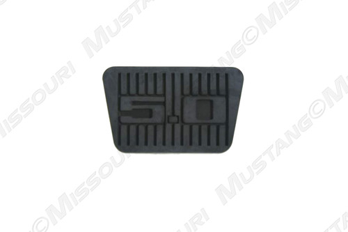 1979-1993 Ford Mustang automatic brake pedal pad with 5.0 logo.
