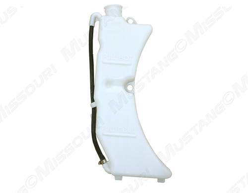 1987-1993 Ford Mustang radiator overflow tank without low coolant sensor.