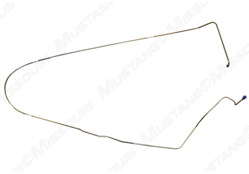 1964-1966 Ford Mustang brake line, front to rear of car, front drum brakes with dual exhaust.