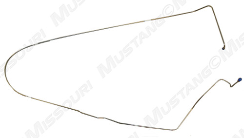 1968-1969 Ford Mustang brake line, front to rear of car, fits drum or disc.