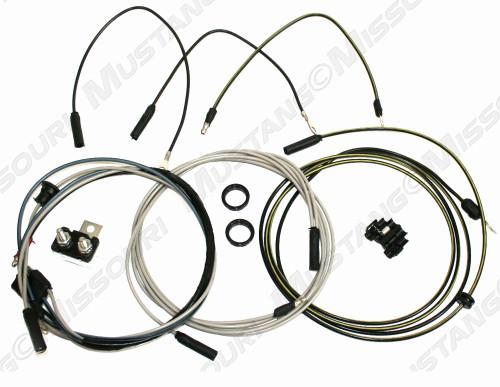 1964-1965 Ford Mustang fog lamp wiring conversion kit