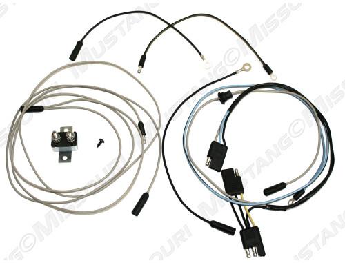 1966-1967 Ford Mustang fog lamp wiring conversion kit.