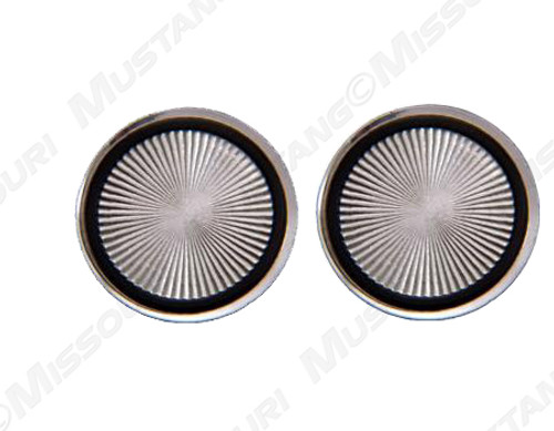 1968-1970 Ford Mustang aluminum release button covers