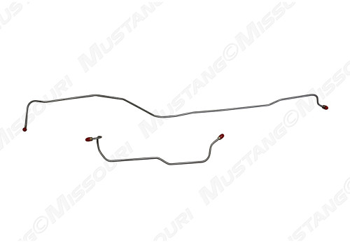 1964-1966 Ford Mustang rear end housing brake lines, set. Precisely bent, exact copy.