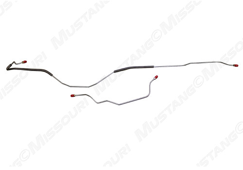 1967-1969 Ford Mustang rear end housing brake lines, set.  Fits 8 cylinder, 8 inch housing.