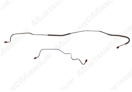 1970 Ford Mustang rear end housing brake lines, set. Fits 8 cylinder, 9 inch housing.