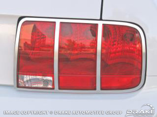 2005-2009 Ford Mustang tail light trim, satin