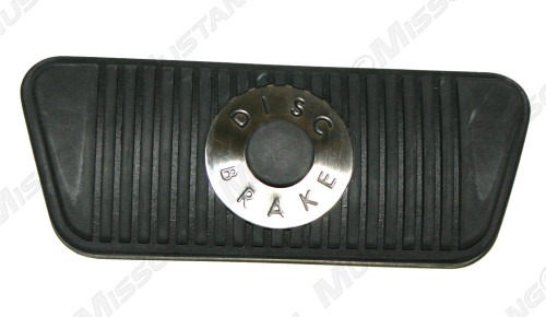 1965-1967 Ford Mustang with disc brakes and automatic transmission brake pedal pad.