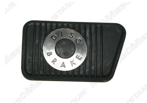1965-1973 Ford Mustang with disc brakes and manual transmission brake pedal pad.