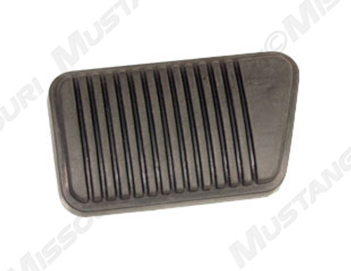 1965-1973 Ford Mustang with drum brakes and manual transmission brake pedal pad.