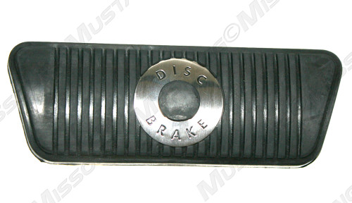 1968-1973 Ford Mustang with disc brakes and automatic transmission brake pedal pad.