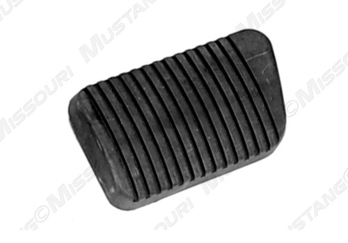 1964 1/2 Ford Mustang brake pedal pad, drum brakes, standard transmission.  Made in USA, correct for the 1964 1/2 Mustang, no trim ring groove.