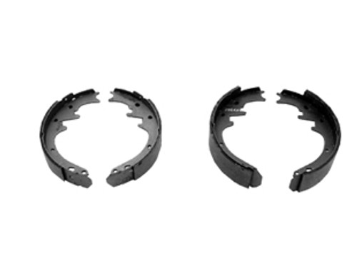 1964-1970 Ford Mustang front brake shoes, 170 and 200 c.i., set.  New bonded shoes are sold in sets of four. Fits convertible models only.