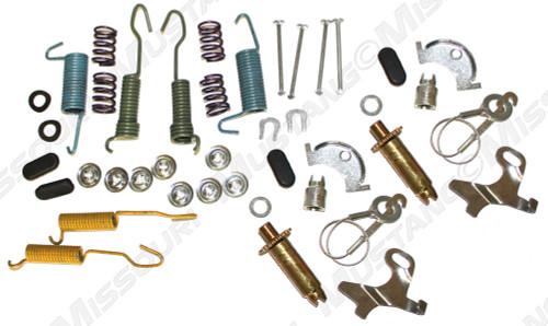 1964-1973 Ford Mustang 8 cylinder, drum, front brake hardware kit.