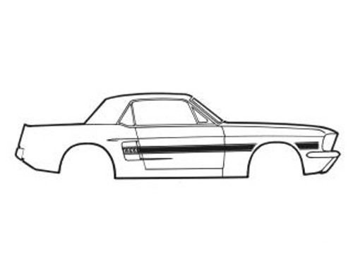 1968 Ford Mustang California Special Stripe Kit
