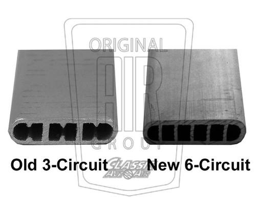 1964-1966 Ford Mustang  A/C Condenser  3 circuit vs 6 circuit