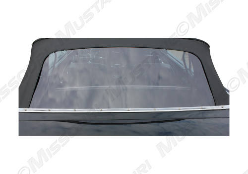 1964-1973 Ford Mustang convertible top rear plastic curtain.  Made by E-Z On Tops.