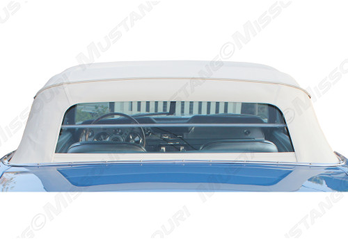 1964-1973 Ford Mustang rear convertible glass by E-Z On Tops. Image of 1967 rear glass installed.  Top is not included.