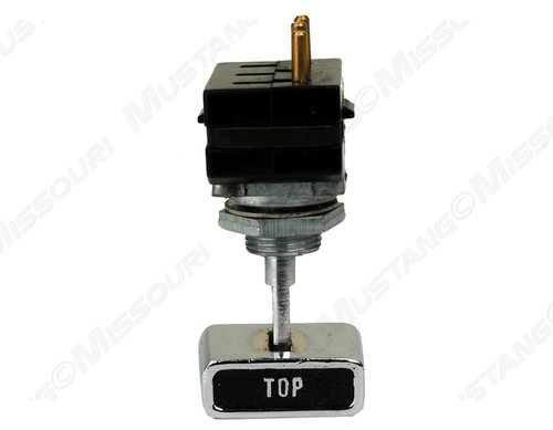 1969-1970 Ford Mustang convertible top switch assembly.  Includes correct die cast knob, made exactly like original.