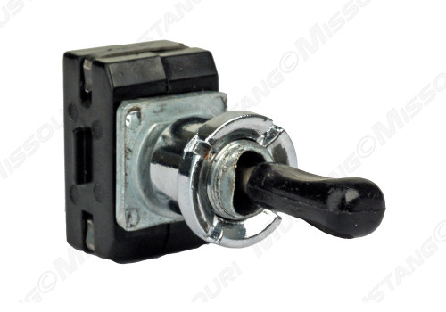 1971-1973 Ford Mustang convertible top switch.  Includes correct plastic knob & die cast chrome nut.
